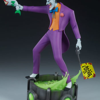 The Joker Statue Exclusive Edition swap out Bang! flag hand