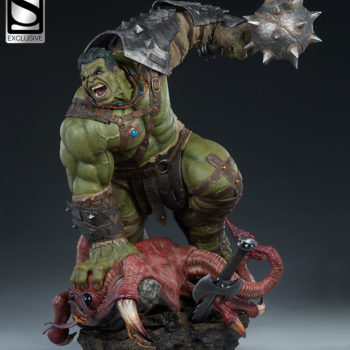 Gladiator Hulk Maquette Exclusive Edition Open Lit Shot