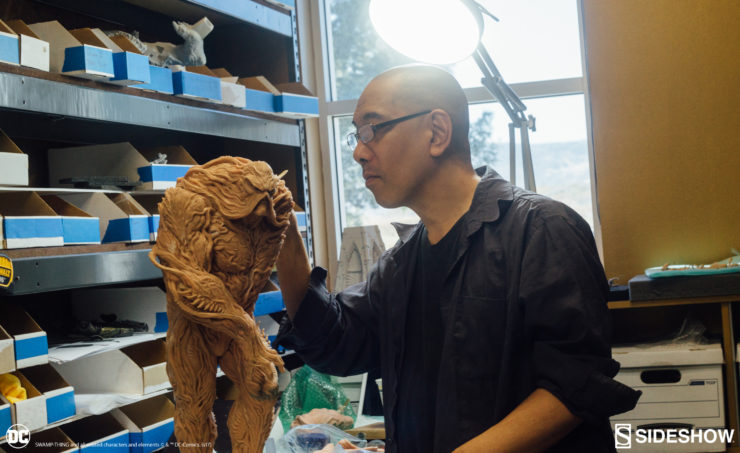 Paul Komoda Sculpts Swamp Thing Maquette Behind the Scenes