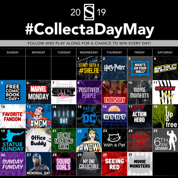Sideshow's Collect A Day May 2019- 31 Prizes in 31 Days!