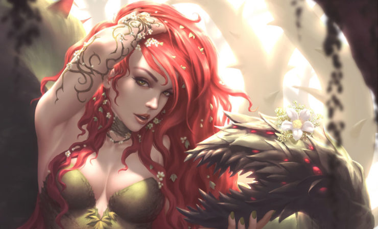 The Poison Ivy Fine Art Print by Kendrick Lim Perfectly Captures Gotham's Toxic Temptress