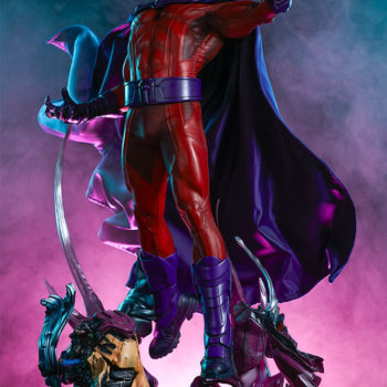 Dramatic Lit Shot of the Magneto Maquette over Sentinel Head Base