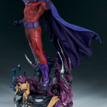 Gallery Shot of the Magneto Maquette over Sentinel Head Base