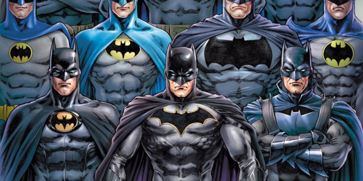 Detective Comics #1000 Variant Cover by Nicola Scott featuring Batman Costume Changes