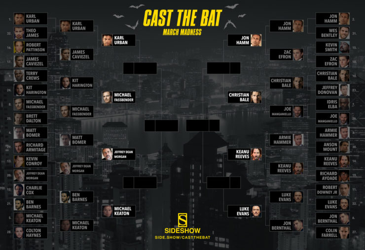 Sideshow's Cast the Bat March Madness Quarterfinals