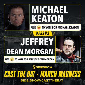 Sideshow's Cast the Bat March Madness Michael Keaton versus Jeffrey Dean Morgan