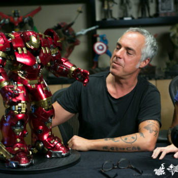 Titus Welliver with the Hulkbuster Sixth Scale Figure