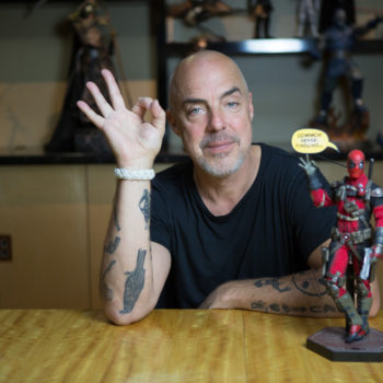 Titus Welliver with the Deadpool Sixth Scale Figure