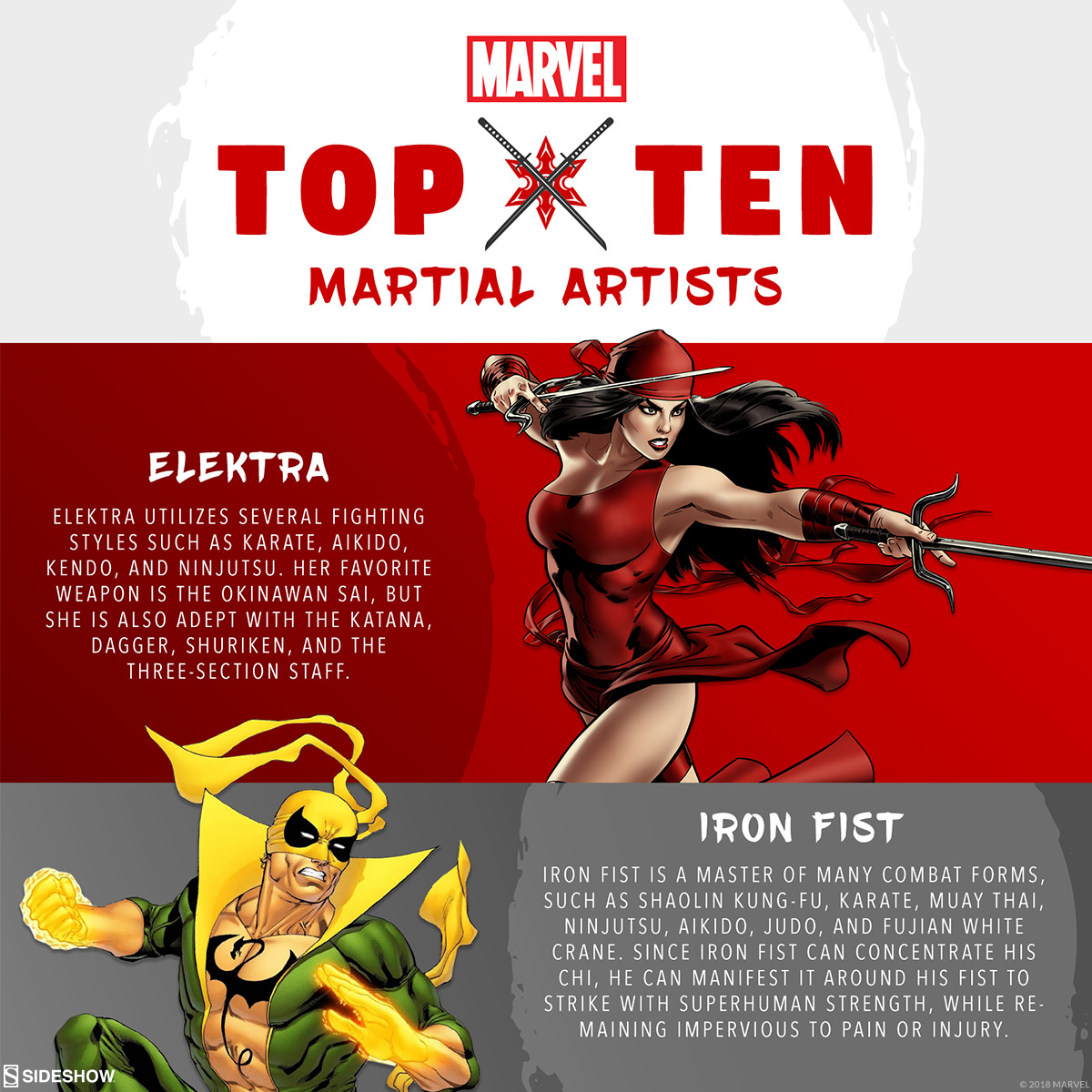 Top Ten Martial Artists in the Marvel Universe | Sideshow