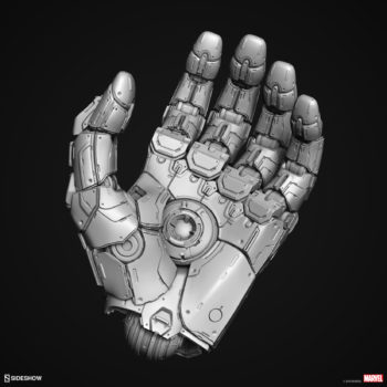 Digital Uncolored Renders of Sentinel Hand Sculpt used for Base Designs in Sideshow's X-Men Collection 4