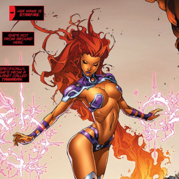 Starfire- Top 10 DC Comics Costume Changes