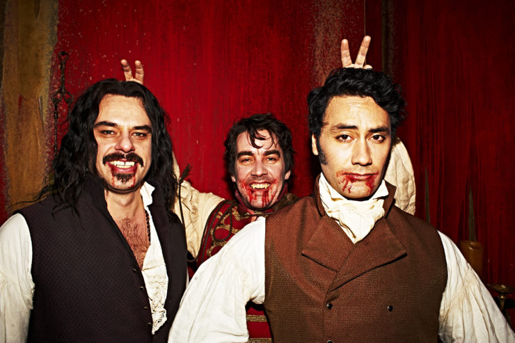 Taika Waititi, Jemaine Clement, and Jonathan Brugh in What We Do in the Shadows 2014