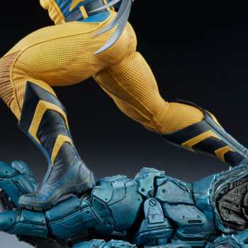 Wolverine Statue Base featuring Sculpted Sentinel Hand 1