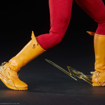 The Flash Sixth Scale Figure Feet with Lightning Effect Close Up
