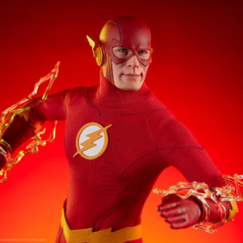 The Flash Sixth Scale Figure Drama Shot with Lightning Effects