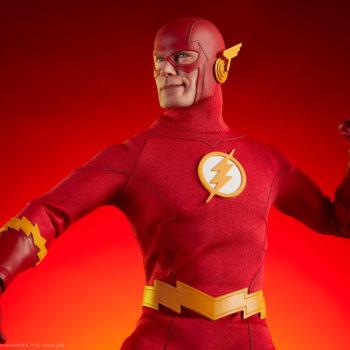 The Flash Sixth Scale Figure Dramatic Lit Shot 1