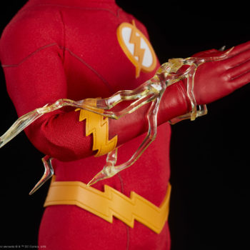 The Flash Sixth Scale Figure Lightning Effect on Arm Close Up