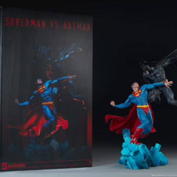 Batman vs Superman Diorama alongside Art Box