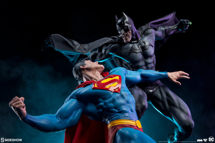 The Dark Knight Takes on the Man of Steel in the Official Batman vs Superman Diorama Production Gallery
