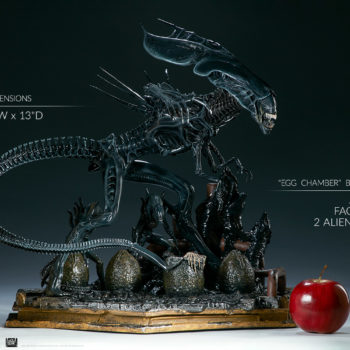 "Alien Queen Maquette Measurements and Base Detail- 19"" H x 22"" W x 13"" D - Sideshow and Legacy Effects"