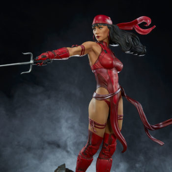Elektra Premium Format Figure with smoky background