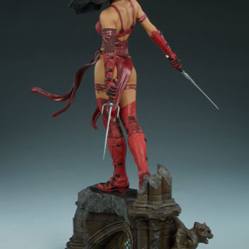 Elektra Premium Format Figure Back View alternative