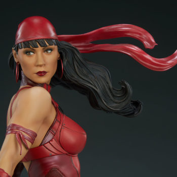 Elektra Premium Format Figure With hair blowing face view