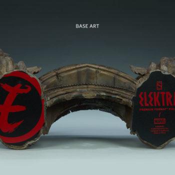 Elektra Premium Format Figure Base Closeup