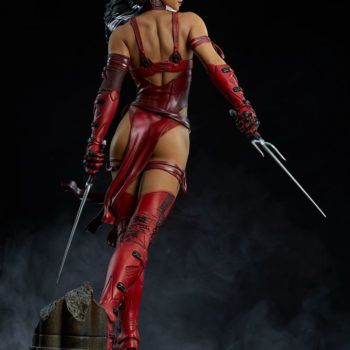 Elektra Premium Format Figure Back View with Sais