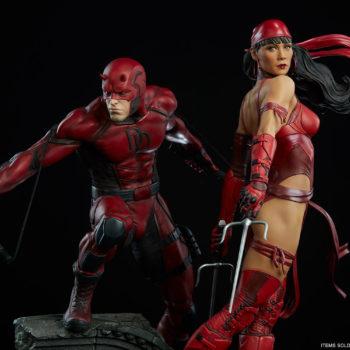 Elektra Premium Format Figure with Daredevil Premium Format Figure 2