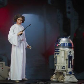 Princess Leia Premium Format™ Figure Exclusive Edition and R2-D2 Premium Format™ Figure