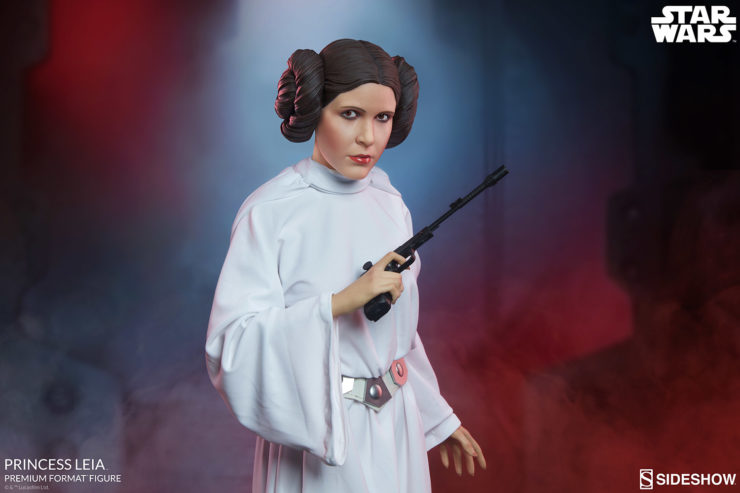 The Death Star Plans Contain the Princess Leia Premium Format™ Figure Official Production Gallery