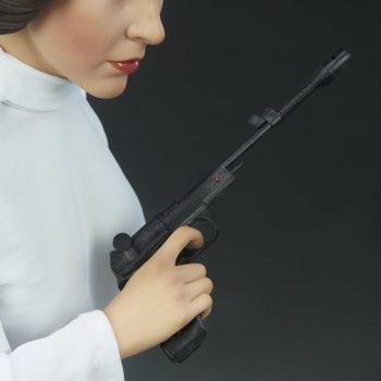 Princess Leia Premium Format™ Figure Portrait and Blaster Close Up