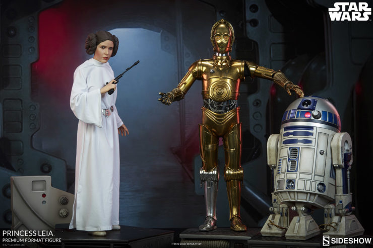 Princess Leia Premium Format™ Figure with C-3PO and R2-D2