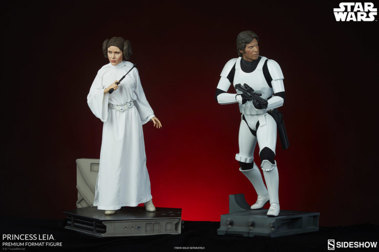 Princess Leia Premium Format™ Figure with Han Solo in Stormtrooper Disguise