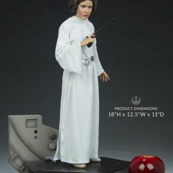 """Princess Leia Premium Format™ Figure Measurements- 18"""" H x 12.5"""" W x 11"""" D"""