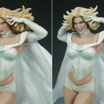Emma Frost Premium Format Figure Exclusive Addition comparison with Collector's Edition