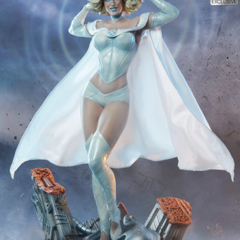 Emma Frost Premium Format Figure Exclusive Addition using her powers full front view