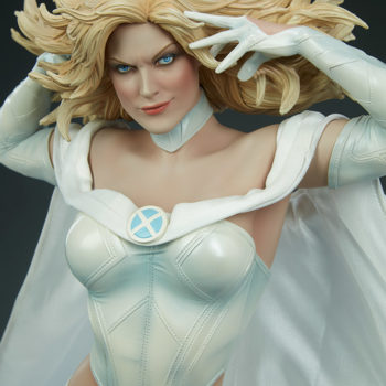 Emma Frost Premium Format Figure Front View as she glares out at you
