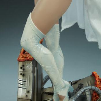 Emma Frost Premium Format Figure Base Details Side View of Emma Frost's Knees