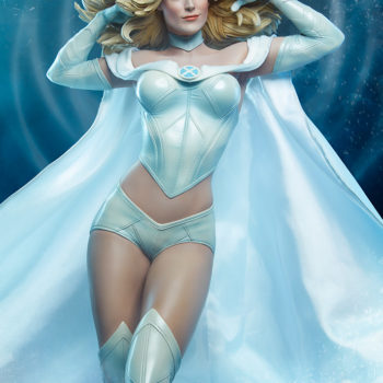 Emma Frost Statue Using her telepathic powers Front view