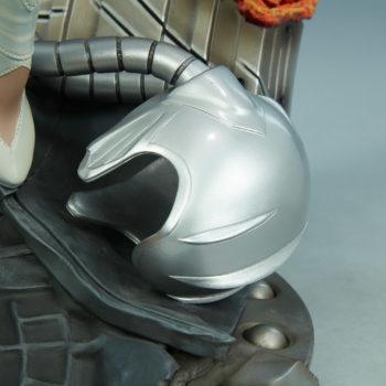 Emma Frost Premium Format Figure Base Details with magneto's helmet