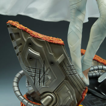 Emma Frost Premium Format Figure Base Details with Wolverine Scratches