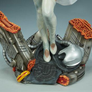 Emma Frost Premium Format Figure Base Details with Juggernaut Foot