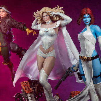 Emma Frost Premium Format Figure with Mystique and Rogue