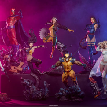 Emma Frost Premium Format Figure with the rest of the X-Men Collection Lineup