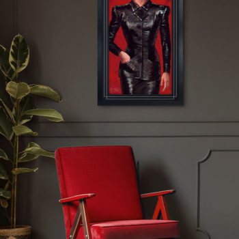 Rachael Fine Art Print by Olivia De Berardinis Black Framed Environment Shot
