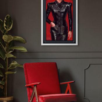 Rachael Fine Art Print by Olivia De Berardinis White Framed Environment Shot