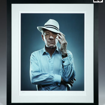 Sir Ian McKellen Deluxe Fine Art Print by photographer Patrick Hoelck