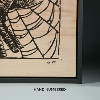 Spider-Man Framed Print on Wood by artist Peter Santa-Maria Hand-Numbering